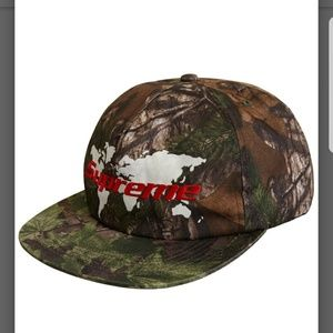 9070c28516f Supreme · Supreme World 5 Panel Hat Woodland Camo